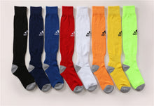 Load image into Gallery viewer, Socks Adult - Light Blue with Black adidas logo