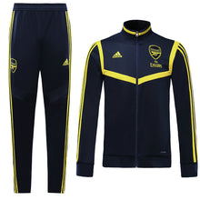Load image into Gallery viewer, Arsenal Bespoke Royal Blue With Yellow Trim Tracksuit Top & Bottom