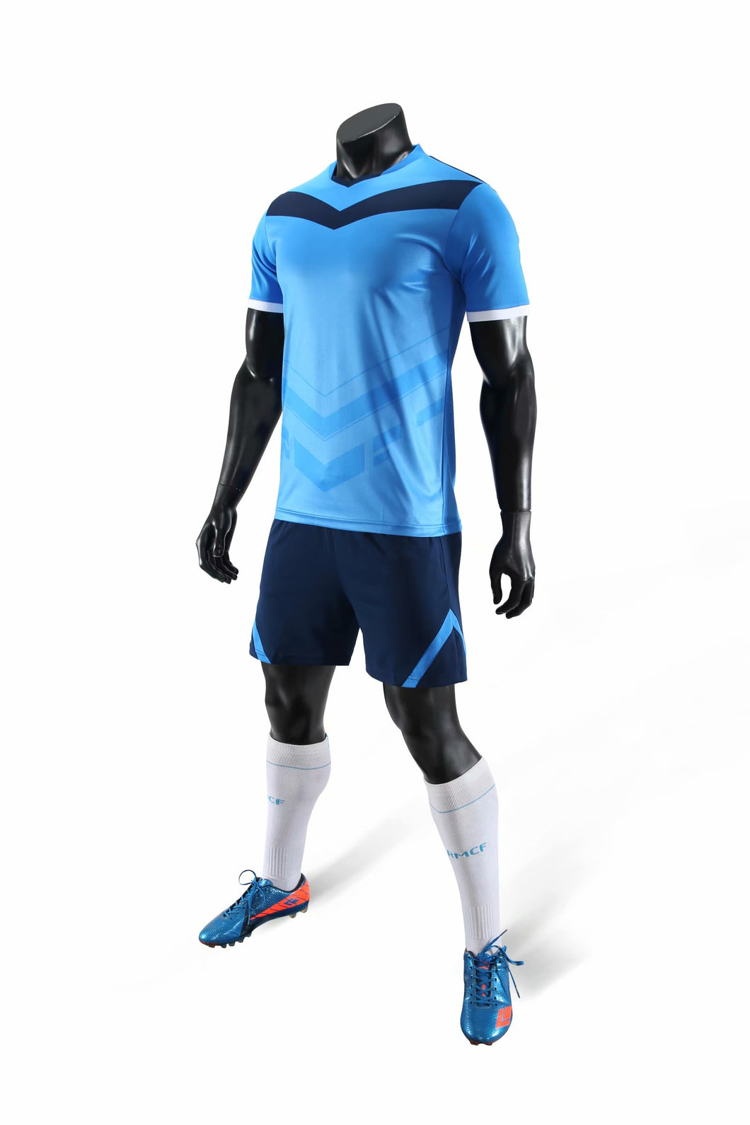 Junior Football Kit - Blue and Black arrow