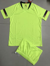 Load image into Gallery viewer, Full Football Kit - Green top and shorts.