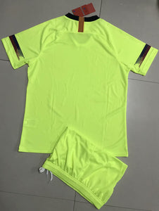 Full Football Kit - Green top and shorts.