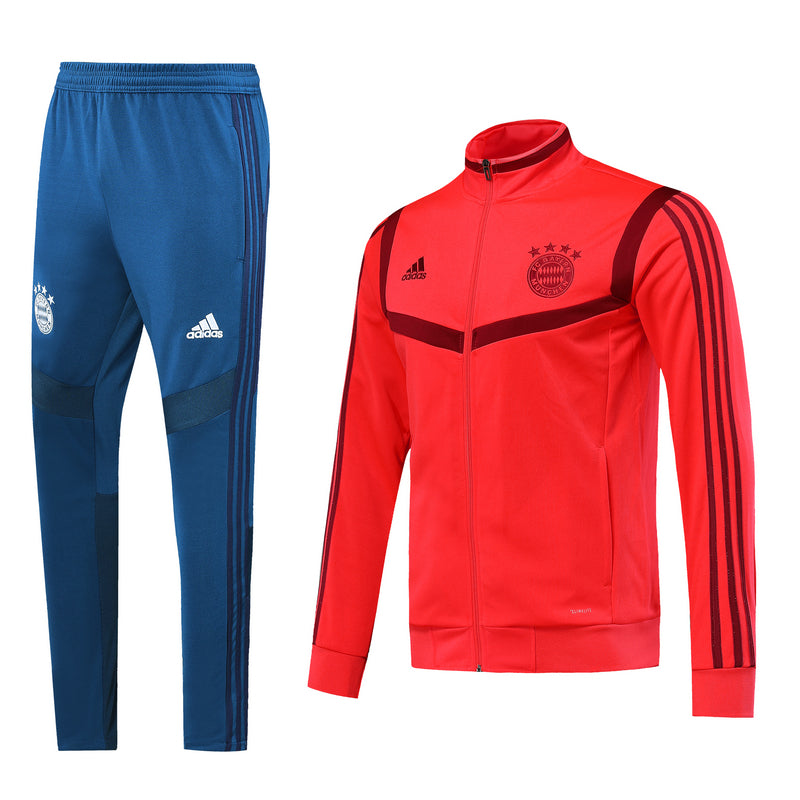 Bayern Bespoke Red and Blue Tracksuit Top & Bottom