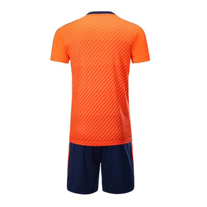 Full Football Kit -Orange top with Black shorts