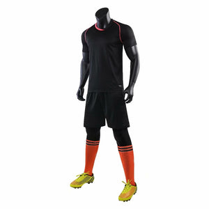 Junior Football Kit - Black and red Trim