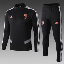 Load image into Gallery viewer, Juventus Bespoke Black Tracksuit Top & Bottom