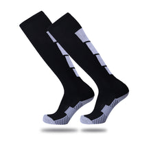 Load image into Gallery viewer, Socks Adult - Black socks with White back leg design