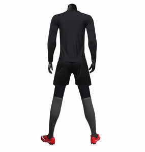 Full Football Kit -  Black with Criss Cross Design.