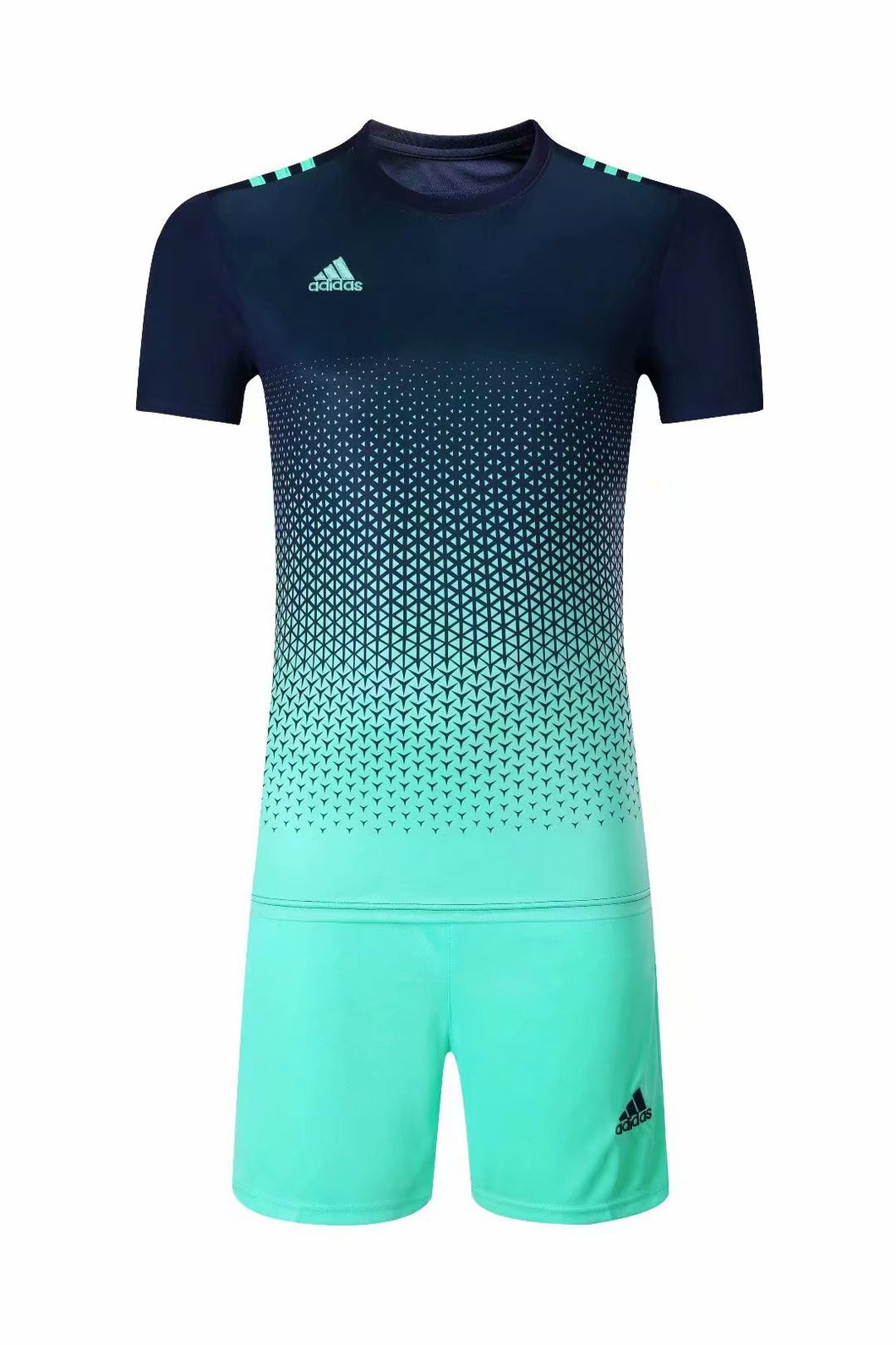 Adidas Full Football Kit Adult Sizes only - 2 tone Navy and light Blue.