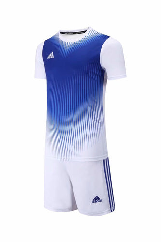 Adidas Full Football Kit Adult Sizes only - 2 tone Blue and white.