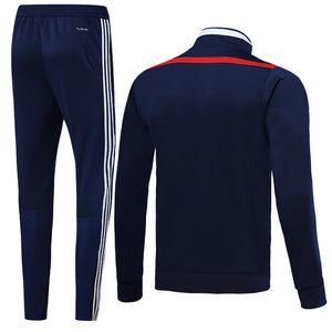 Sao Paulo Bespoke Royal Blue With Red Trim Tracksuit Top & Bottom