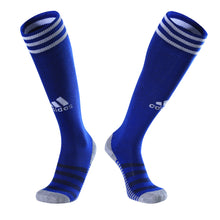 Load image into Gallery viewer, Full Football Kit - Royal Blue and White with Thin Stripe Design.