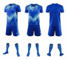 Load image into Gallery viewer, Adidas Full Football Kit Adult Sizes only - 2 tone blue and white.