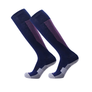 Socks Junior and Adult - Dark Blue socks with Pink trim