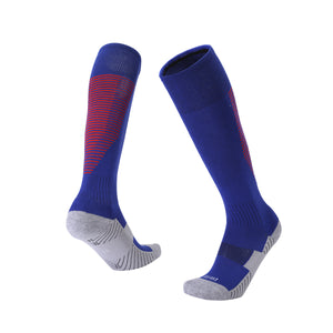 Socks Junior and Adult - Blue socks with Red trim