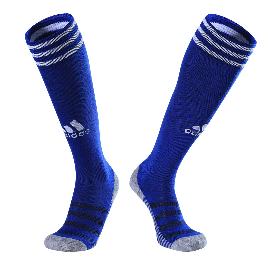 Socks Junior and Adult - Adidas Blue with white trim