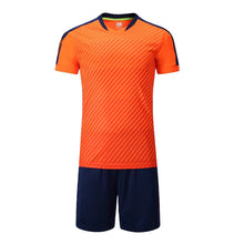 Load image into Gallery viewer, Full Football Kit -Orange top with Black shorts