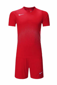 Nike Full Football Kit Adult Sizes only - Full Red with Crotchet Design