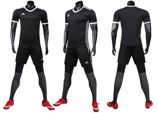 Adidas Full Football Kit - Black and white