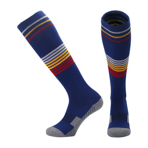 Socks Adult - Dark Blue with white, yellow and red trim