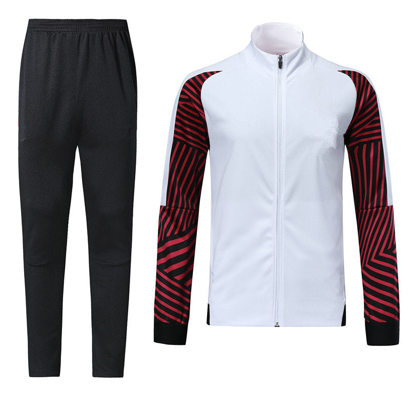 Full Custom Tracksuit -  White and Shaded Red