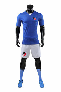 F5 Exclusive Full Football Kit - Blue with white Shorts
