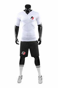 F5 Exclusive Full Football Kit - White and Black shorts