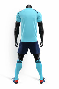 Full Football Kit - Baby blue with Black shorts