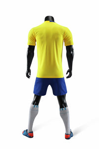Full Football Kit - Yellow with Royal Detail and Shorts.