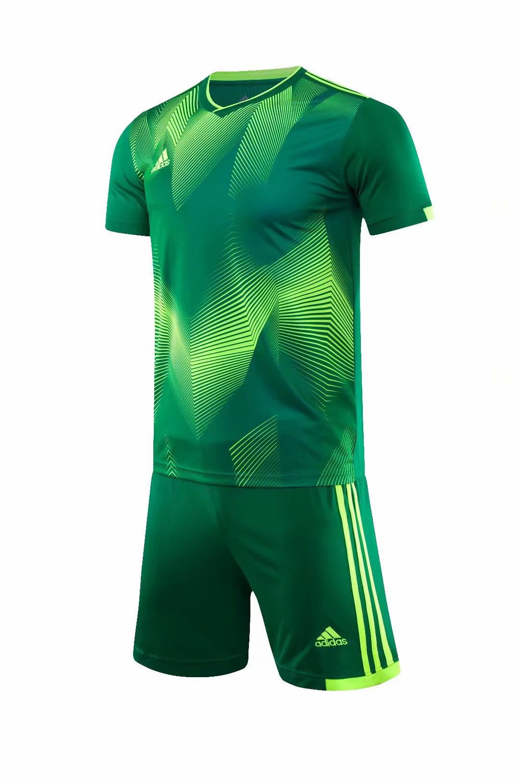 Adidas Full Football Kit Adult Sizes only - 2 tone green and yellow..