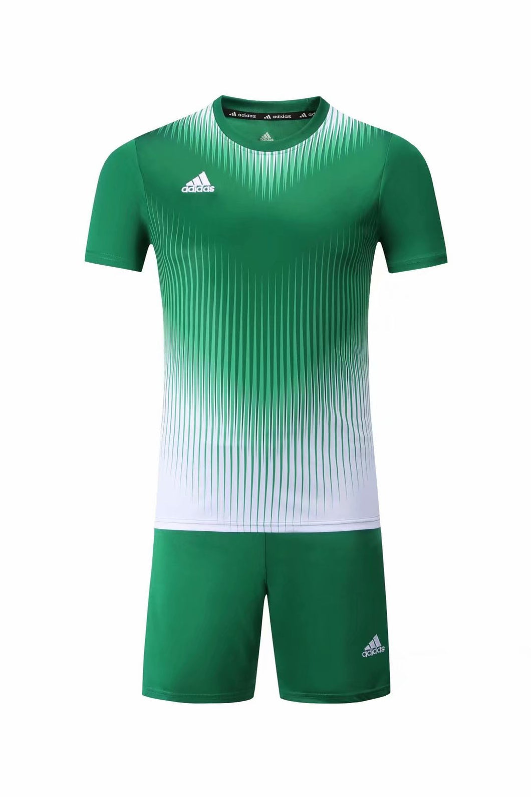 Adidas Full Football Kit Adult Sizes only - 2 tone Green and white