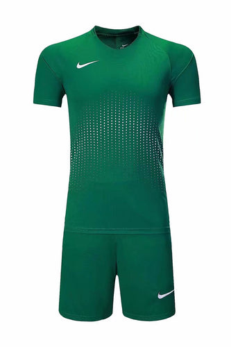 Nike Full Football Kit Adult Sizes only - Full Dark Green with Crotchet Design