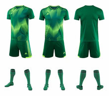 Load image into Gallery viewer, Adidas Full Football Kit Adult Sizes only - 2 tone green and yellow..