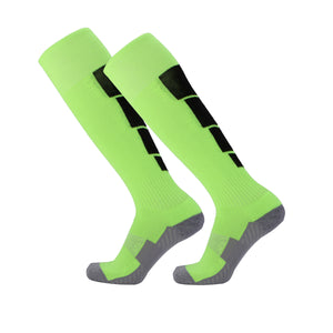 Socks Adult - Green with Black back leg design