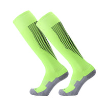 Load image into Gallery viewer, Socks Junior and Adult - Green with Black trim