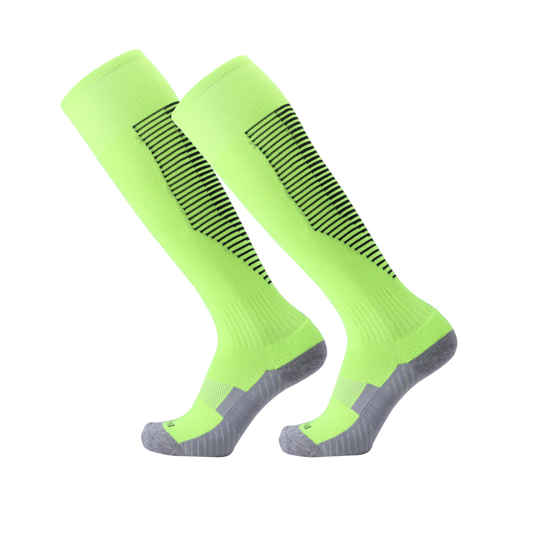 Socks Junior and Adult - Green with Black trim