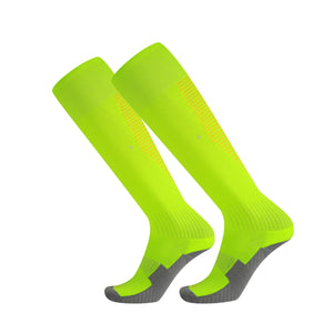 Socks Junior and Adult - Green with red lines