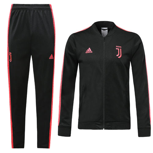 Juventus Bespoke Black With Red Detail Tracksuit Top & Bottom