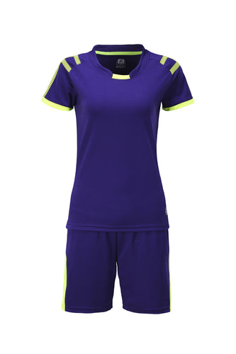 Full Football Kit - Royal Blue with Yellow Trim and Shorts