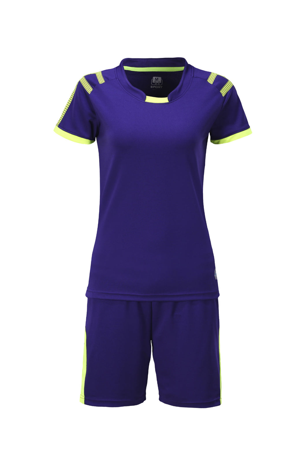 Full Football Kit - Royal Blue with Yellow Trim and Shorts.