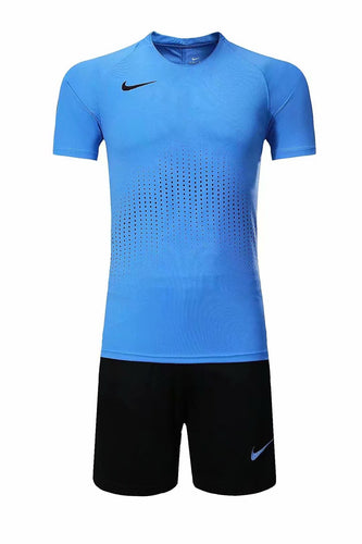 Nike Full Football Kit Adult Sizes only - Full Light Blue with Crotchet Design