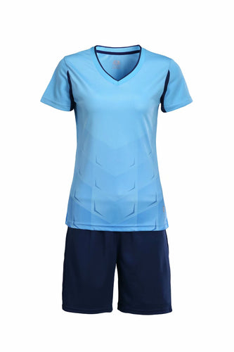 Full Football Kit - Blue With Black Shorts