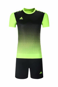 Adidas Full Football Kit Adult Sizes only - 2 tone lime green and black.