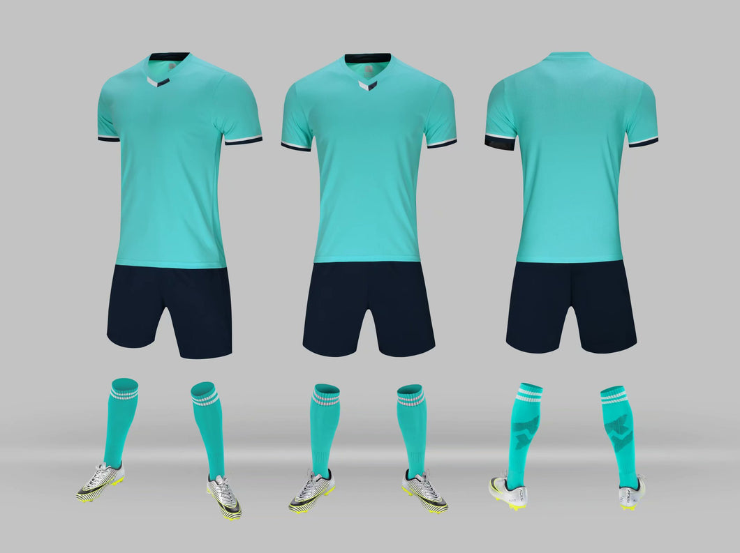 Junior Football Kit - Lime Blue