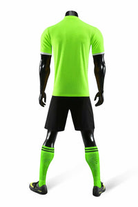 Junior Football Kit - Shaded Lime Green