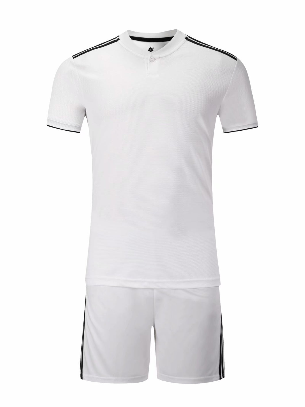 Full Football Kit - White top and shorts with Black detail