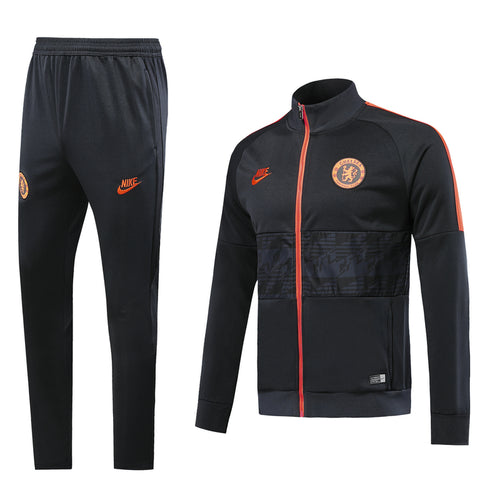 Chelsea Bespoke Dark Blue Tracksuit Top & Bottom