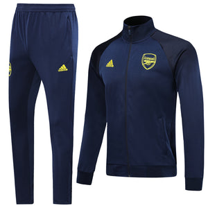 Arsenal Bespoke Royal Blue With Yellow Back Detail Tracksuit Top & Bottom