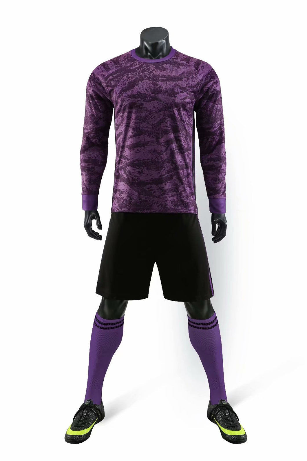 Full Football Kit - Purple Mixed Colour Long Sleeve.
