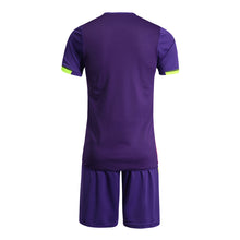 Load image into Gallery viewer, Full Football Kit - Colour Way Purple, Pink and Yellow with Purple Shorts.