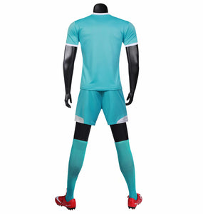 Full Football Kit - Teal Ombre with Royal Blue Detail